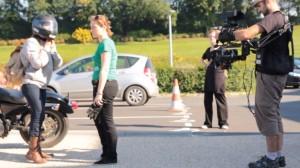 En tournage avec Ronin et exosquelette